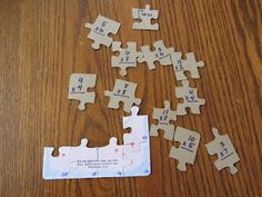 Math review with a small puzzle.