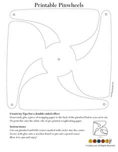 Paper Crafts: Printable Pinwheels Color Your Own Pinwheel – Craft Jr.
