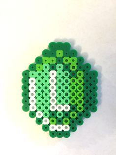 Minecraft Emerald perler beads