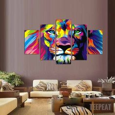 Lion King - Colorized - 5 Pc Painting | TEEPEAT