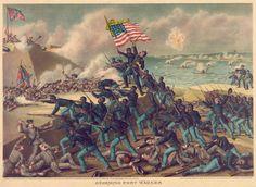*CIVIL WAR ~ Print + Drawing: Storming Fort Wagner: Fine Art Print.