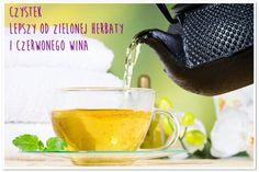 CZYSTEK lepszy od zielonej herbaty i czerwonego wina Moscow Mule Mugs, Detox, Spices, Food And Drink, Herbs, Tableware, Health, Wellness, Sweets