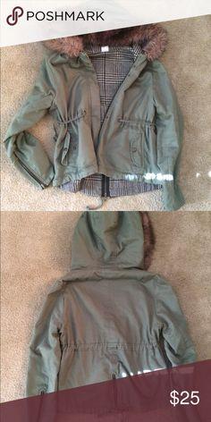 Green fall jacket Moss green fall jacket. High/low style. Gently used. Jackets & Coats Jean Jackets