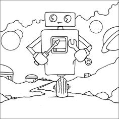 20 Cute Free Printable Robot Coloring Pages Online   Robot, Craft ...