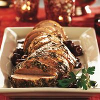 Pork Loin in Cherry Wine Reduction #HEBHolidayMeal