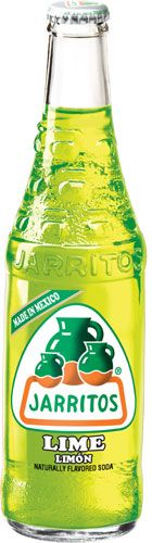Jarritos Lime Soda. Perfect with Mexican food!