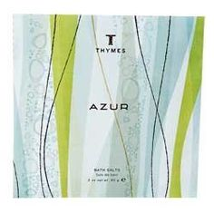 Thymes Azur Bath Salts by Thymes. $5.00. Envelop your body in warm waters softened with natural sea salts. Skin is smoothed and hydrated with skin-conditioning sea nutrients, while a refreshing marine fragrance fills the air with tranquility.  2 oz Envelope  $5.00. Save 28%!