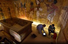 Picture of mapping equipment to find hidden chambers in King Tut's tomb.