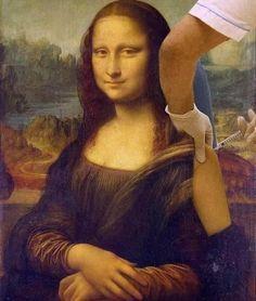 Monalisa Wallpaper, Caricature, Louvre Museum, Classical Art Memes, Mona Lisa Parody, Frida Art, Art Jokes, Mood Pics, Funny Art