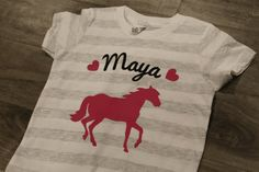 HORSE Kid's personalized name birthday Tshirt by myeverydaydesign, $18.00 for B's cowgirl party