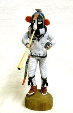 Hopi Hand Carved Humpback Flute Player Kachina