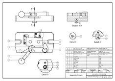 วิจิตร ชัยมงคลมณี : Wijit Chaimongkonmanee: ตัวอย่างแบบงานเขียนแบบ Cad Computer, Isometric Drawing, Mechanical Design, Cad Drawing, Autocad, Engineering, Diagram, Drawings, 3d Modeling