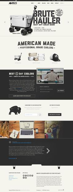 Unique Web Design, Brute Hauler @aleinadLeyton #WebDesign #Design