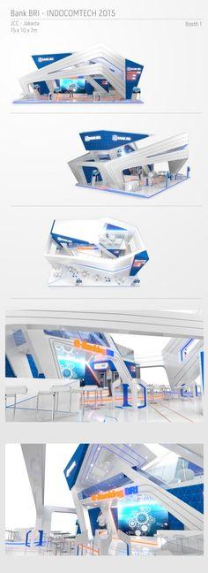 BRI Indocomtech 2015 - Booth 1 by achda adiji at Coroflot.com
