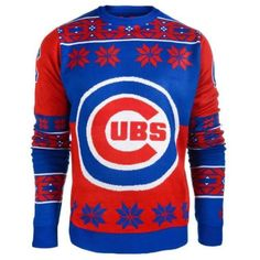 Chicago Cubs Big Logo Crew Neck Ugly Sweater