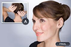 Step 2: Create a side part in your hair and pull it back into a high pony. Secure with hair elastic.   Step 3: Apply clip-in hair piece if you are using one.   Step 4: Take hair in pony (and/or hair piece) and twist into a circle around elastic. Secure with bobby pins