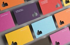 """The brief was to communicate a young, bright, fun creative television production company. A full range of colours was used for the stationery and ID, the business cards still get great reactions for the client."" via lovely stationery #lovelystationery #cwmnida"