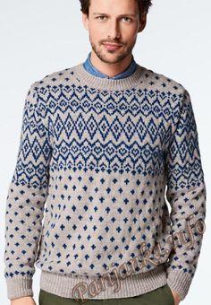 Жаккардовый пуловер (м) 991 Creations 2014/2015 Bergere de France №4457