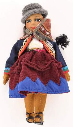 This doll is an exquisite example of the indigenous dress from the CTTC-member village, Nahuaypampa, in the Cusco highlands of Peru. | Clothroads