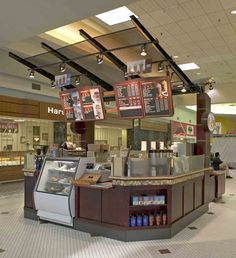Coffee kiosk. Bakery Shop Interior, Cafe Interior, Food Court Design, Cafe Concept, Retail Store Design, Coffee Design, Coffee Carts, Coffee Shop, Mall Kiosk