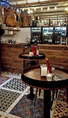 New Design Cafe Restaurant Floors Ideas Tapas Restaurant, Design Bar Restaurant, Restaurant Concept, Cafe Bar, Bar Deco, Bar Design Awards, Tile Manufacturers, Cafe Design, Floor Design