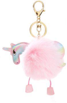 Unicorn Keychain With Pom Pom #gifts#fun#cute#ad #budget