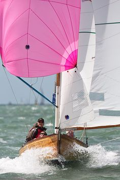 The XOD class sailboat 'Diana' with spinnaker racing in the Solent during Cowes Week 2013