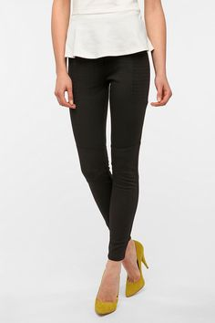 Madonna 1990: Add some tight black pants - comfy and cute ones like these will do the trick. Silence & Noise Ponte Knit Biker Pant from @Urban Outfitters