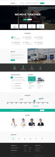 Transpress – Transport, Logistics and Warehouse WordPress Theme Web And App Design, Homepage Design, Web Design Trends, Layout Site, Website Layout, Web Layout, Graphisches Design, Layout Design, Blog Design