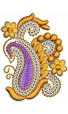 Florida Flower Embroidery | Paisley Sequins Design