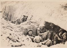 British troops of the 8th Army in foxholes and dugouts during the Battle of El Alamein.