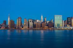 Sunrise over Manhattan, New York City
