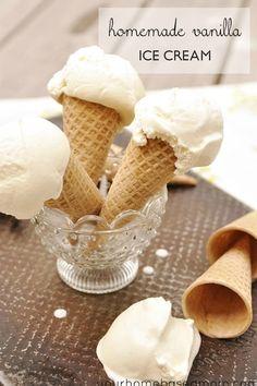 Homemade Vanilla Ice Cream With Chocolate Chip And Cookies & Cream Versions Recipe - (yourhomebasedmom)