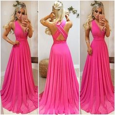 Simple long prom dress, evening dress ML12265 by moonlight, $128.44 USD Evening Dresses, Formal Dresses, Pink Princess, Looks Cool, Kaftan, Perfect Fit, Dress Skirt, Beautiful Dresses, Ideias Fashion