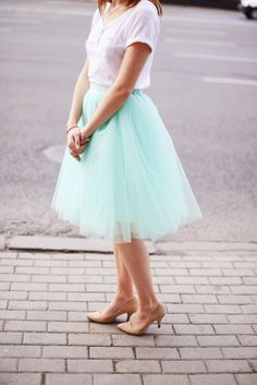 Tiffany Tulle Skirt. A-silhouette. Mini Length. Length can be Midi, Mini, Maxi as well by BowsAndTulle on Etsy