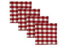 S/4 Check Napkins, Red on OneKingsLane.com