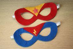 Super Hero Mask with lightning bolt badge ANY by oppositeoffar