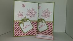 Weihnachtskarte Rote Schneeflocke