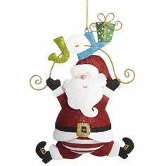 Joyful Santa Ornament
