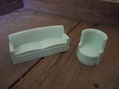 Vintage Dollhouse Furniture Mint Green Couch and by AMarigoldLife, $10.00