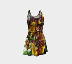 """Flare+dress+""""Tiger+Orchids+in+Summer,+on+Flare+Dress""""+by+NIDA+"""