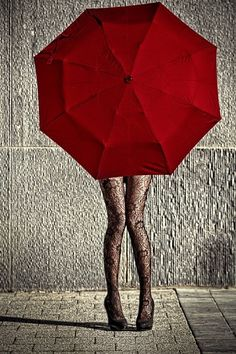 Photography Black And White Rain Red Umbrella Ideas Umbrella Art, Under My Umbrella, Black Umbrella, Photo Oeil, Or Rouge, I See Red, Foto Fashion, Umbrellas Parasols, Simply Red
