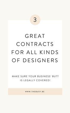 My 3 Favorite Contracts For Designers The Busy Bee - Entrepreneurs - Ideas of Buying First House Web Design Quotes, Web Design Tips, Graphic Design Tips, Freelance Graphic Design, Flat Design, Freelance Interior Designer, Design Layouts, Graphic Design Services, Graphic Designers