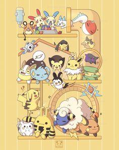 Pikachu Art, Pokemon Eevee, Pokemon Comics, Pokemon Funny, Pokemon Fan Art, Pokemon Fusion, Cute Pokemon Pictures, Pokemon Images, Kawaii Drawings