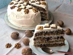 Tort cu nuca si frisca Romanian Food, Romanian Recipes, Something Sweet, Tiramisu, Cooking, Cake, Ethnic Recipes, Desserts, Drinks