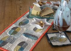 Easy Quilted Coasters + Table Topper: Tutorial + A Modern Twist Sew Mama Sew .