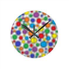 Blurred Polka Dots Clock