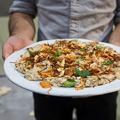 Learn how to make a riff on a popular Persian dish called borani-e-bademjaan.