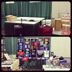 My LeakyCon booth before and after.  #LeakyCon #fandom