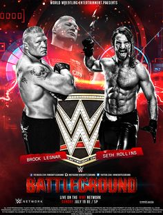 Comments & Creative criticism will be appreciated WWE Battleground PPV Poster BW Nwo Wrestling, Wrestling Posters, Brock Lesnar, Undertaker, Wwe Game Download, Wwe Events, Wwe Ppv, Michael Bisping, Wrestling